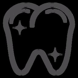 Icono de trazo de dientes