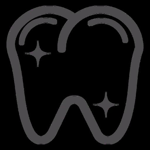 Ícone de traçado de dente Transparent PNG