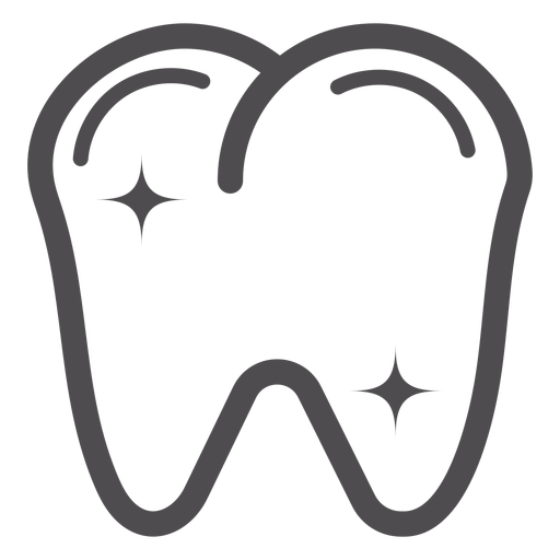 Tooth stroke icon Transparent PNG