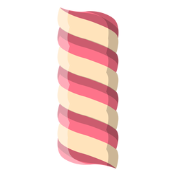 Twisted marshmallow candy icon