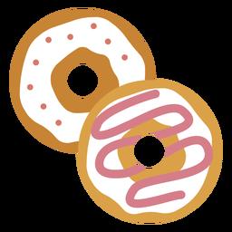 Icono de dos donuts