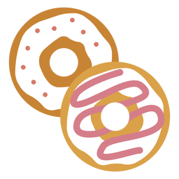 Two doughnuts icon