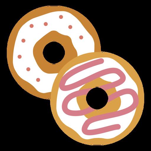 Ícone dois donuts Transparent PNG