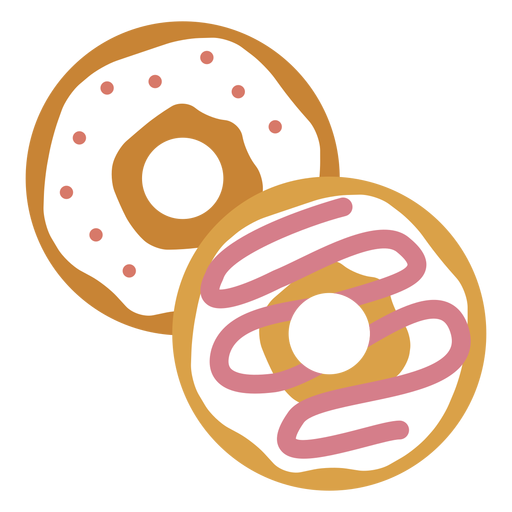 Zwei Donuts-Symbol Transparent PNG