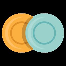 Ícone de duas placas