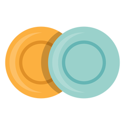 Two plates icon