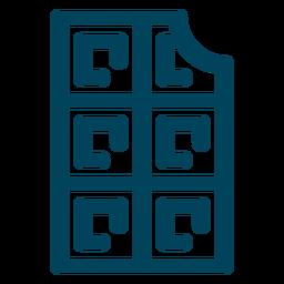 Waffelstrich-Symbol