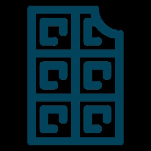 Icono de trazo de waffle Transparent PNG