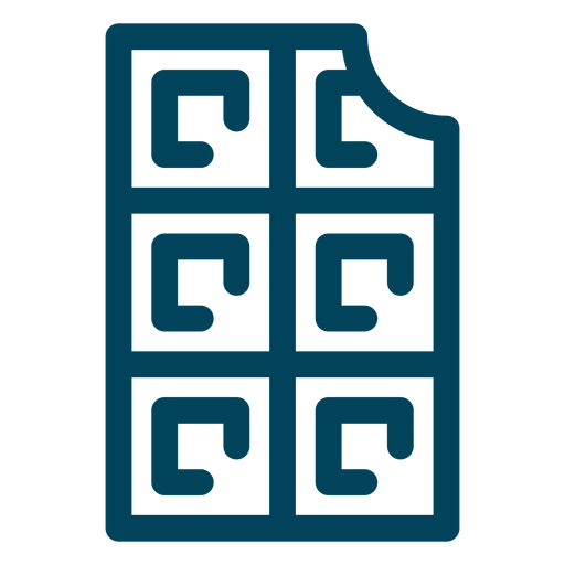 Waffelstrich-Symbol Transparent PNG