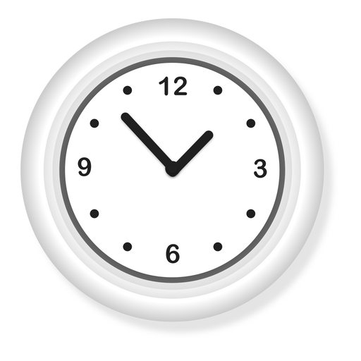 Ilustración de reloj de pared Transparent PNG
