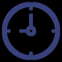 Ícone de traçado de relógio de parede