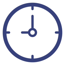 Icono de trazo de reloj de pared