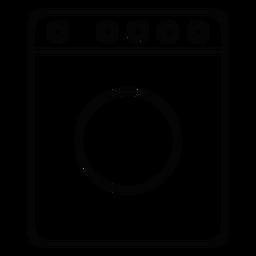 Ícone de traçado de máquina de lavar roupa