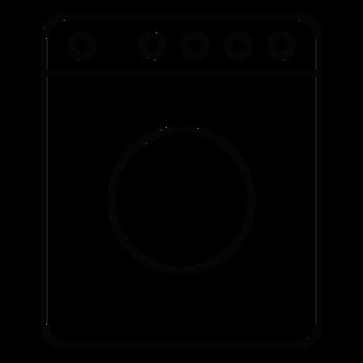Washing machine stroke icon Transparent PNG