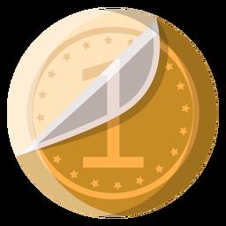 Icono de moneda de chocolate blanco