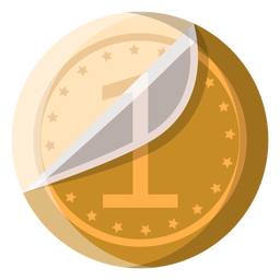 White chocolate coin icon