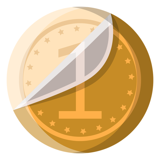White chocolate coin icon Transparent PNG