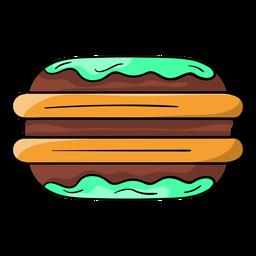 Desenhos animados de torta de Whoopie