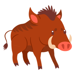 Wild boar animal cartoon