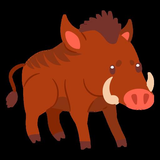 Wild boar animal cartoon Transparent PNG