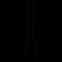 Ícone de traçado de espátula de madeira