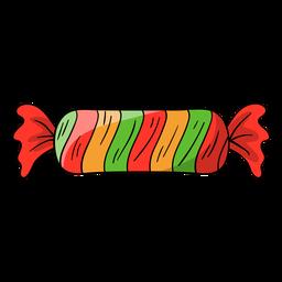 Desenhos animados de doces embrulhados