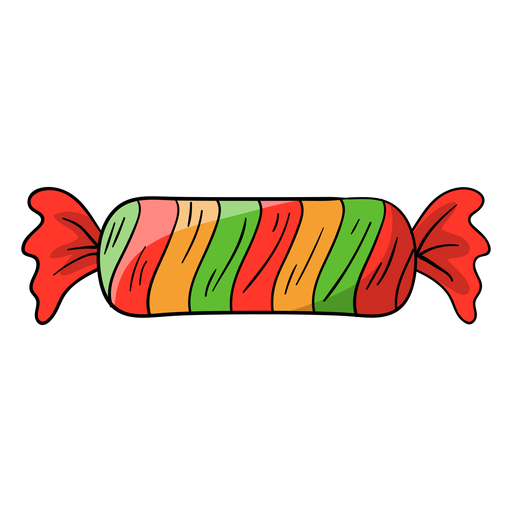 Wrapped candy cartoon Transparent PNG