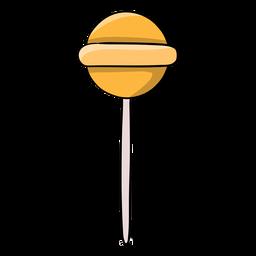 Dibujos animados de piruleta jawbreaker amarillo