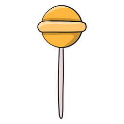 Yellow jawbreaker lollipop cartoon