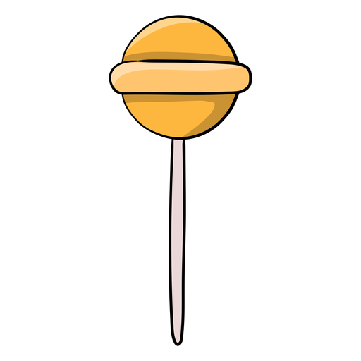 Dibujos animados de piruleta jawbreaker amarillo Transparent PNG