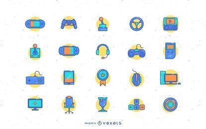 Coleção de ícone de videogame