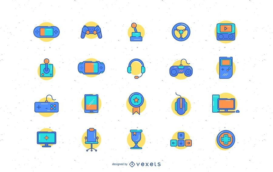 Video game icon collection