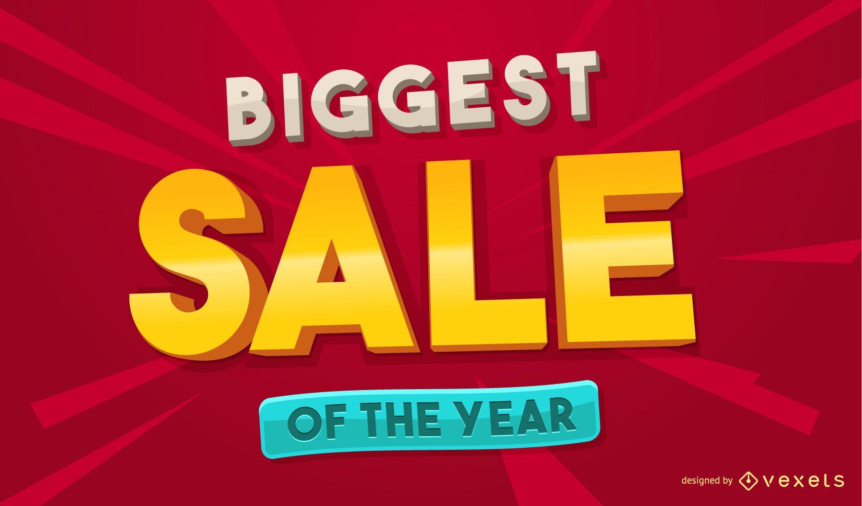 Biggest sale design template