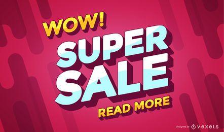 Bandeira de compras on-line de venda super