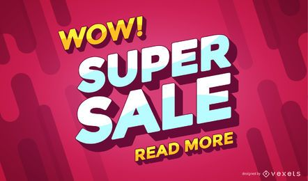 Super sale online shopping banner