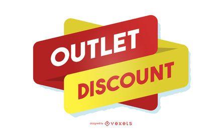Outlet-Rabatt-Designvorlage