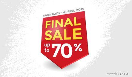 Vetor de distintivo de venda final