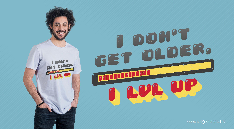 Diseño de camiseta de subir de nivel