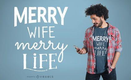Diseño de camiseta de la vida familiar.