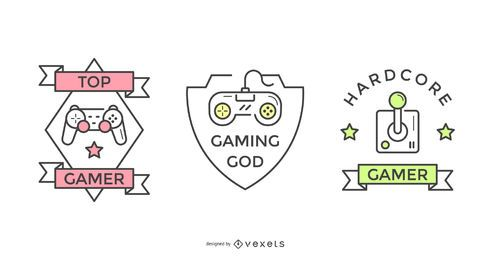 Gamer badge set