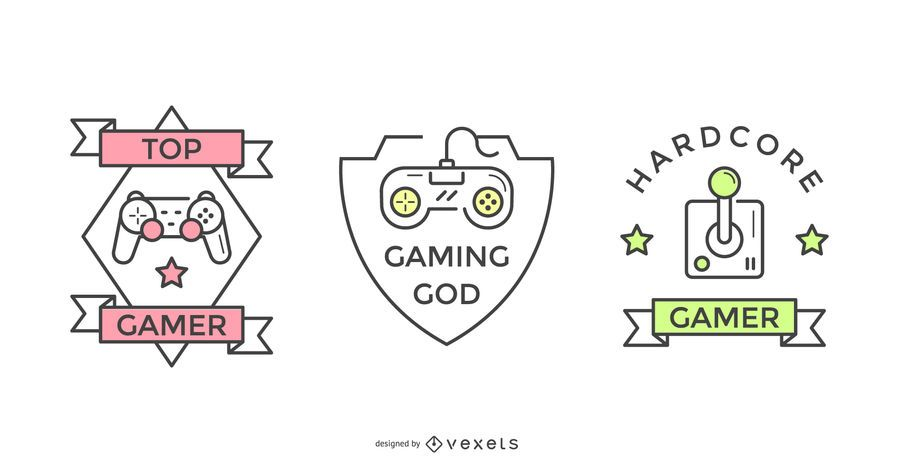 Gamer badge set