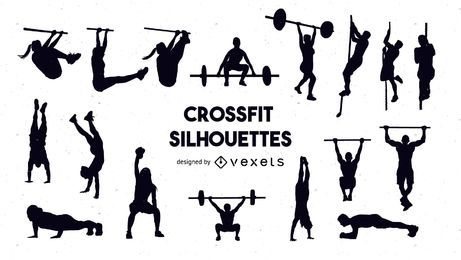 Crossfit silhouette set