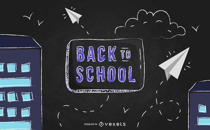 Projeto de panfleto de escola de quadro-negro