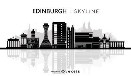 Silueta de horizonte de Edimburgo
