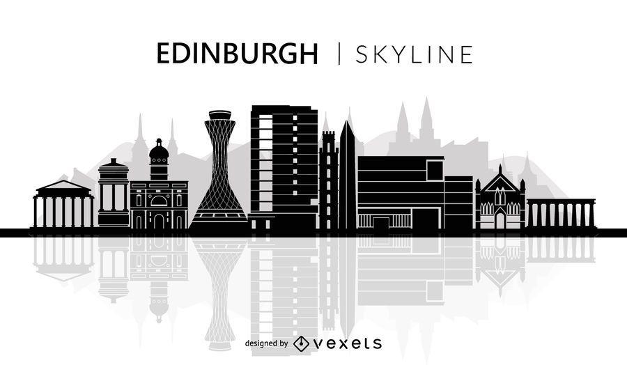 Edinburgh Skyline Silhouette
