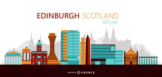 Edinburgh Skyline Illustration