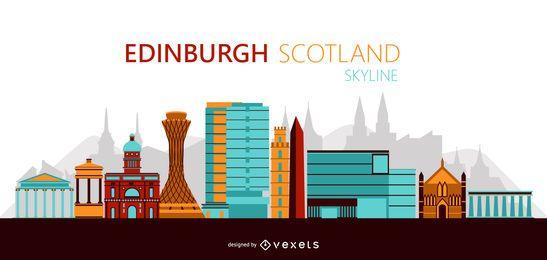 Ilustração do horizonte de Edimburgo