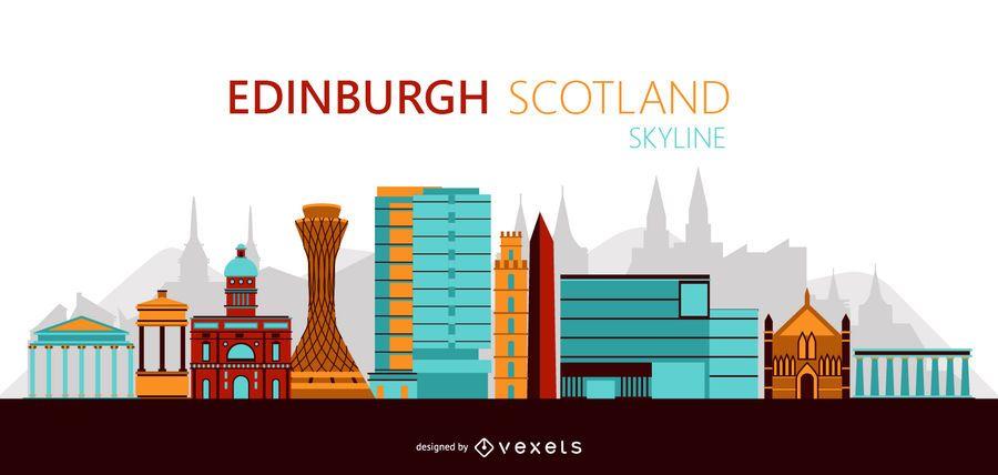 Edinburgh Skyline Illustration