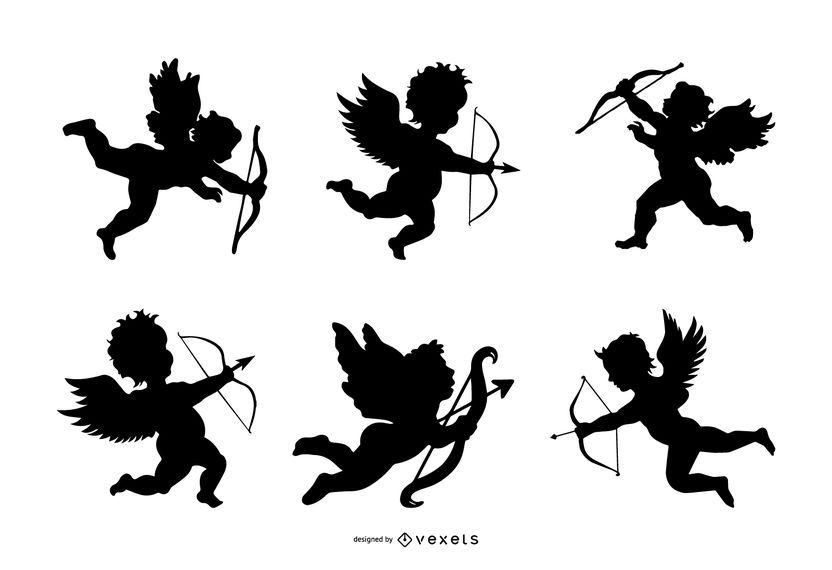 Cupid silhouette set