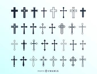 Huge christian cross collection